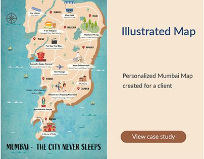 Illustrated Mumbai City Map