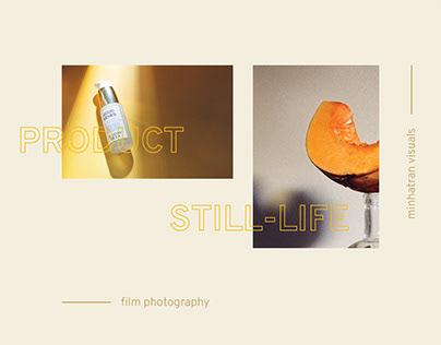 Still-life photography on film