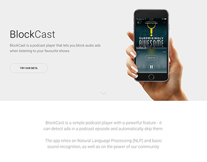 BlockCast Landing Page