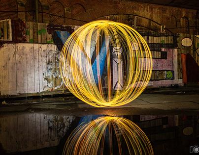 Lightpainting in Berlin
