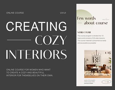 Website concept for online interior design course