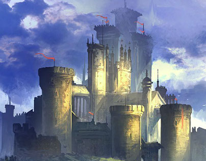 Castle in the lowlands, by Mark Tompkins