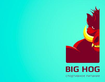 """Site & Logo for sport nutrition """"Big Hog"""""""