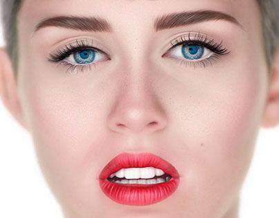 Miley Cyrus Hyperrealistic Illustration