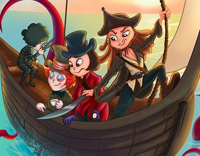 Embarcação Maluca! Personagens Johnny Depp