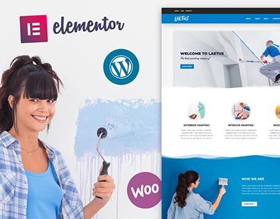 Laetus - Painting Company WordPress Business Theme