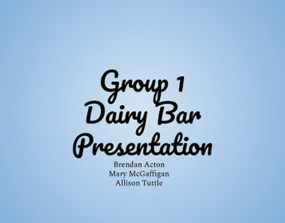 Dairy Bar Logo Project