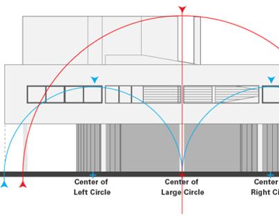 Corbusiers Villa Savoye Geometric Analysis On Behance