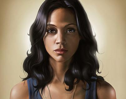 Zoe Saldana - Digital Portrait