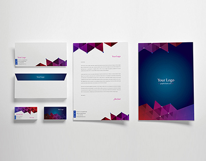 Free Vector Stationery Template