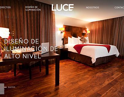 Luce web page mock up