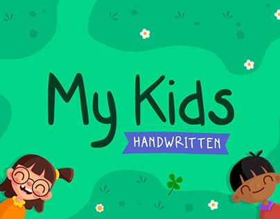 (Free Download) My Kids | Handwritten Font