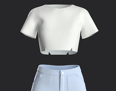 Denim Shorts Design