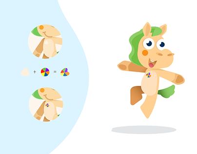 Character design for children. Horse Joy