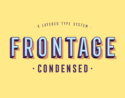 Frontage font family download
