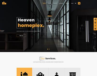 Web templete for interior design company