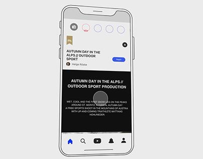 Behance App animation (Motion Graphics)