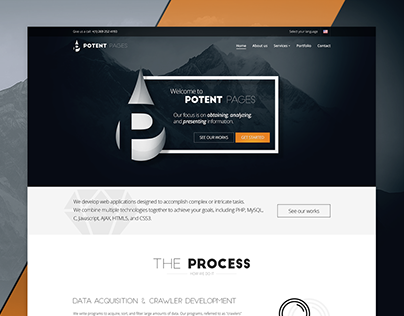 Potent Pages Website Redesign