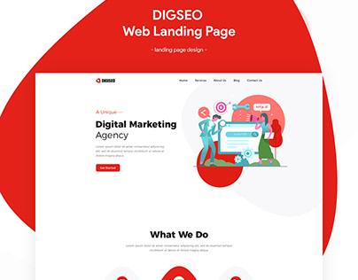 SEO Service Website landing page design