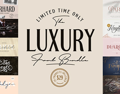 The Luxury Font Bundle - Limited Time Only!