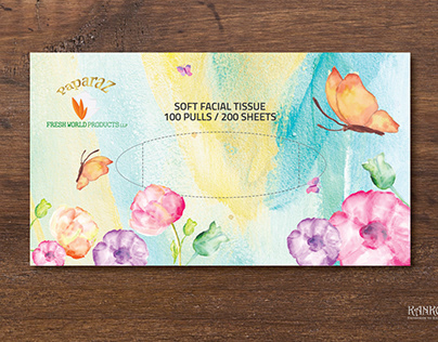Tissue Box design for a tissue manufacturing Co.