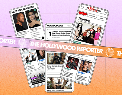 """""""The Hollywood Reporter"""" news website redesign"""