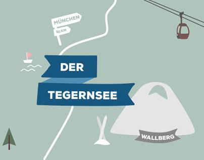 Map Illustration – Ferienregion Tegernsee