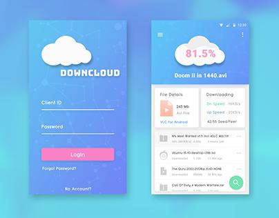 DownCloud Torrent App Design