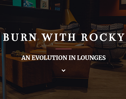 [SAMPLE WORK] Landing Page for BURN by Rocky Patel