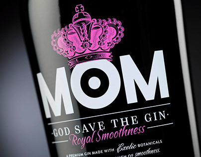 Mom gin. Packaging