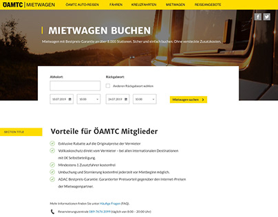 ÖAMTC / TCS Landing Pages