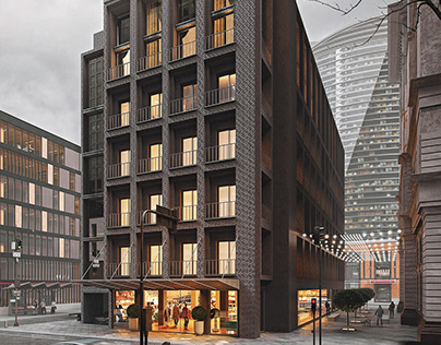 Commercial Exterior Rendering for a Project in NY