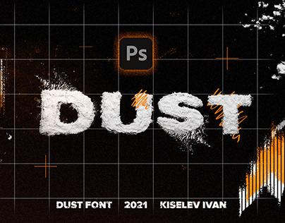 [PSD] DUST FONT / STYLIZED TEXT
