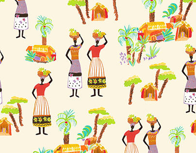 TRAVEL DIARY illustrations and textile-prints