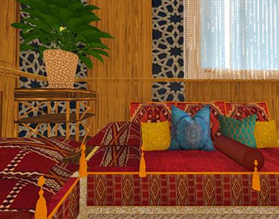 Moroccan Majlis, Zamalek island, Egypt