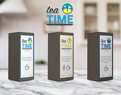 Tea TIME Packaging Mockup