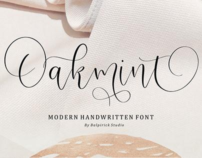 Oakmint Modern Handwritten Font