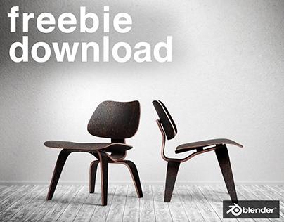 Eames LCW - Free Model - Blender3D