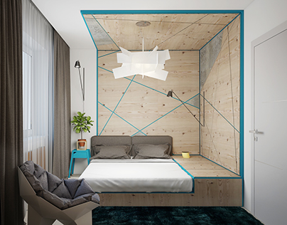 Living apartment 60 sq.m by Oleh Gubanishchev