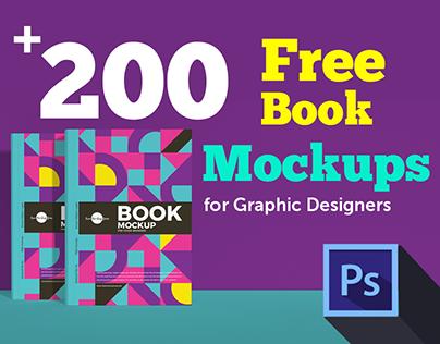 200+ Amazing Free Book Mockups for Photoshop