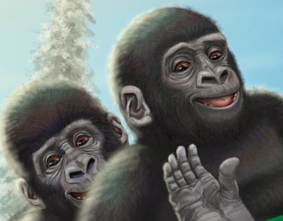Sleigh-Riding Gorillas