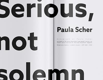 Serious, not solemn - inspired by P. Scher's TedTalk