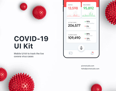 Coronavirus Worldometer UI kit