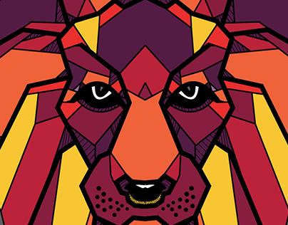 """""""King"""" the Lion - Illustration"""