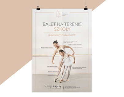 Promotional materials for the ballet school