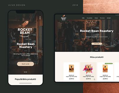 Rocket Bean Roastery - Desktop & Mobile design