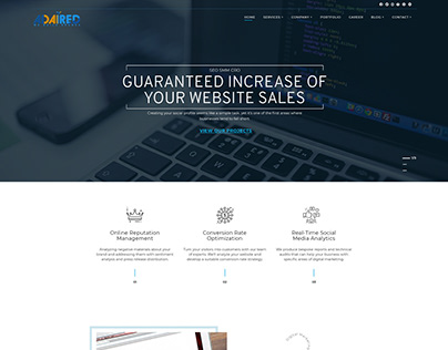 ADAIRED- Home Page Design