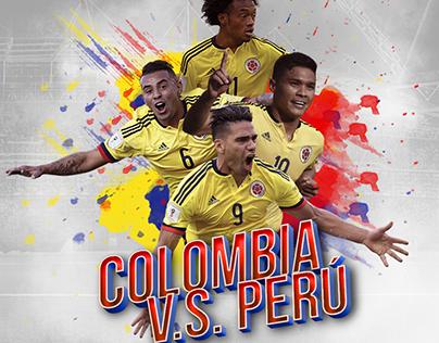 Col VS Perú South America Road To Rusia
