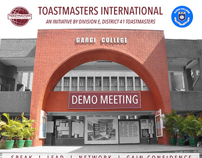 Posterfor Gargi College Toastmasters Demo Meeting