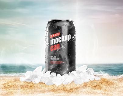 Free | Can Mockup